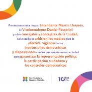 La Red Ciudadana Nuestra Córdoba solicita se reactiven los mecanismos de participación y monitoreo ciudadanos en la ciudad de Córdoba